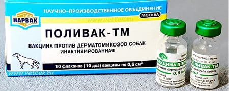 Вакцина Поливак от лишая для собак