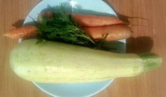 Кабачок и морковь