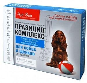 Акарицидный препарат Празицид Комплекс для собак и щенков