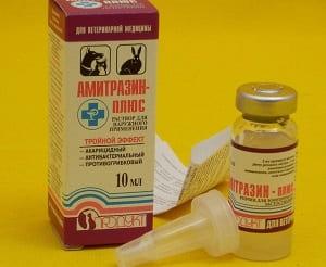 Раствор Амитразин от клеща демодекс для собак и кошек