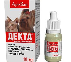 Раствор Декта для лечения демодекоза у собак