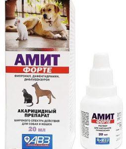 Капли Амит Форте от ушного клеща для собак