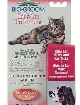 Капли Био-грум Ear Mite Treatment от ушных клещей для животных