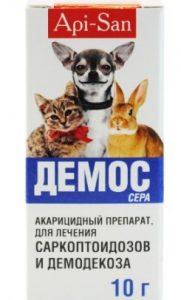 Ветеринарные капли Демос от ушного клеща