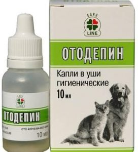 Отодепин: капли для очистки ушей у собак и кошек