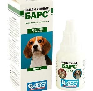 Ушные капли Барс от клеща для собак