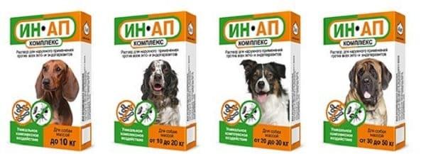 Капли на холку ИН-АП комплекс для профилактики дирофиляриоза у собак