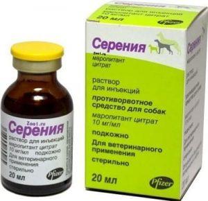 Серения: препарат против рвоты для щенков