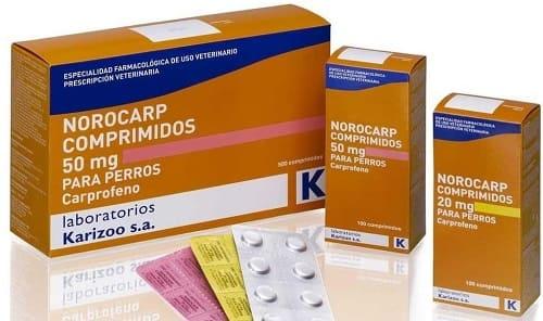 Ветеринарные таблетки Норокарп из группы НПВС