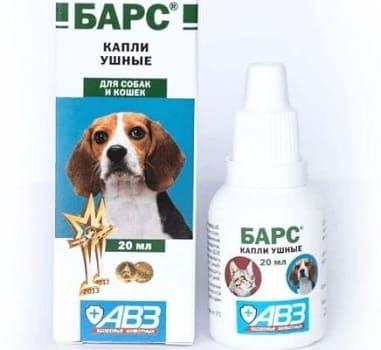 Ушные капли Барс для собак