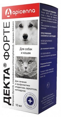 Ветеринарные капли Декта Форте для собак и кошек