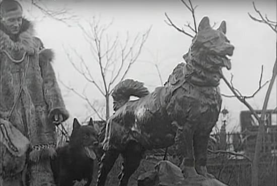 Балто и Каасен на открытии памятника