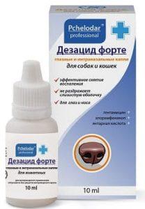 Дезацид форте: антибактериальные капли в нос для собак