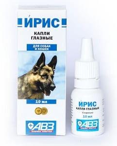 Капли Ирис глазные для собак и кошек